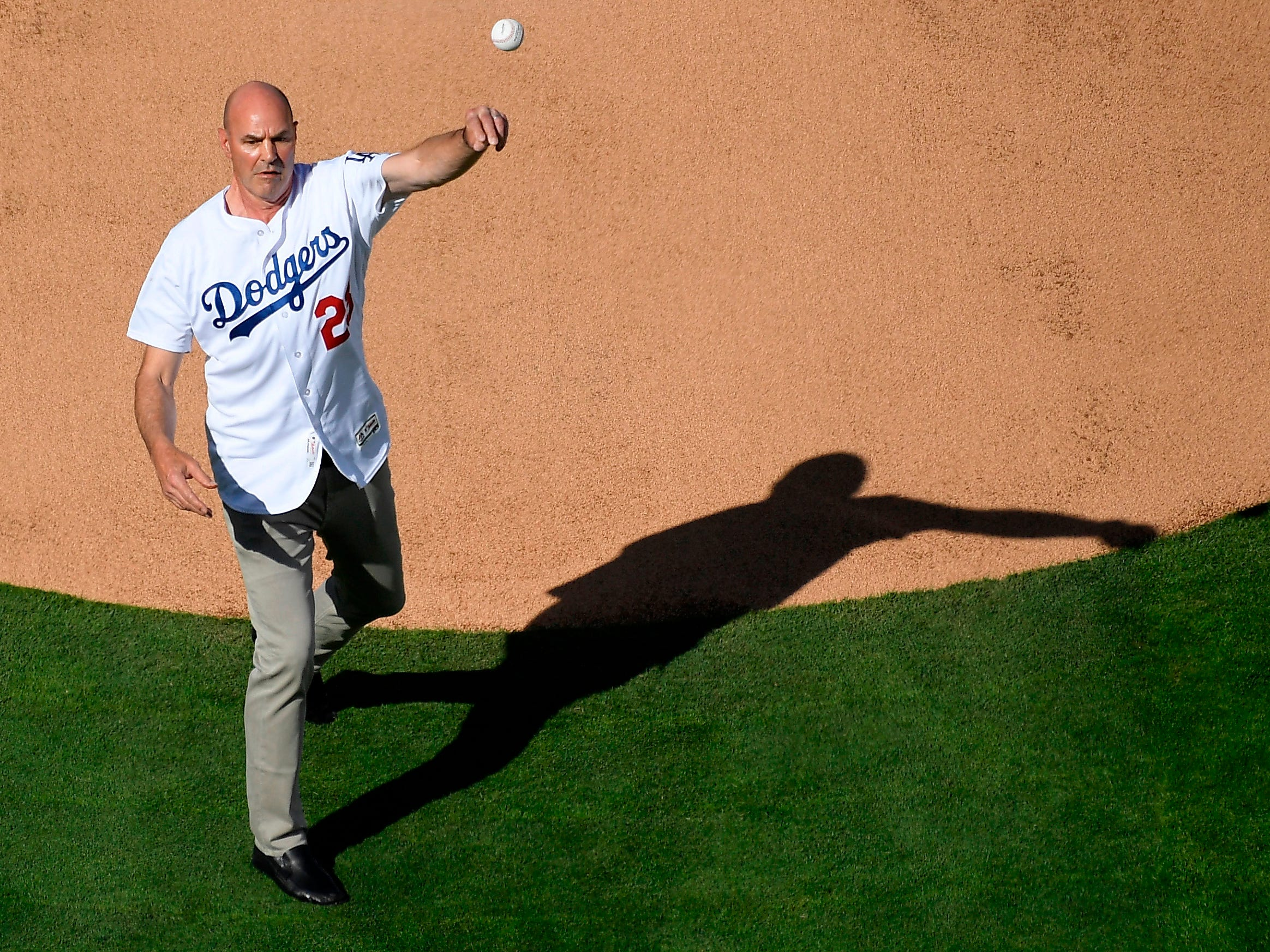 A hero for the Los Angeles Dodgers in the World Series 30 years ago, Gibson was honored on opening day in Los Angeles in 2018, throwing out the ceremonial first pitch. His appearance raised more than $300,000 for his Parkinson's foundation.