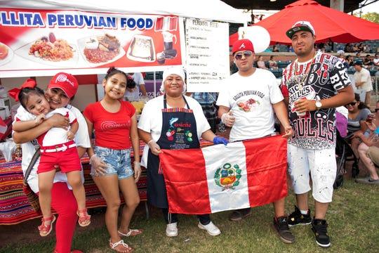 The Gollita Peruvian Cuisine team at a local Evansville HOLA festival.