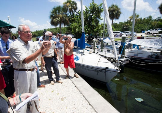 Congressman Francis Rooney visited Southwest Florida to witness and talk about water quality issues. He visited Paradise Marina in North Fort Myers and then visited Fort Myers Beach. Mayors of several cities in Lee County filed an administrative challenge against the South Florida Water Management District over flows to the river.