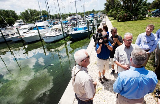 File; Congressman Francis Rooney touring areas in Southwest Florida that have been hardest hit by a blue-green algae and red tide outbreak.