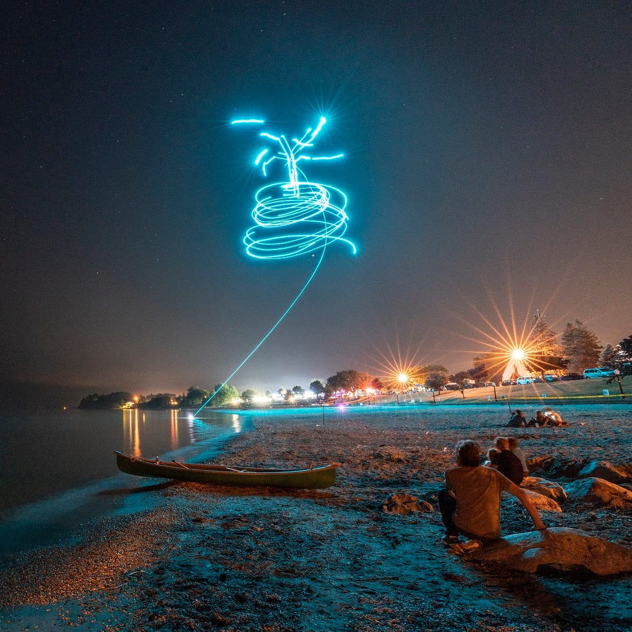 Photos from Shanty Days' drone light show