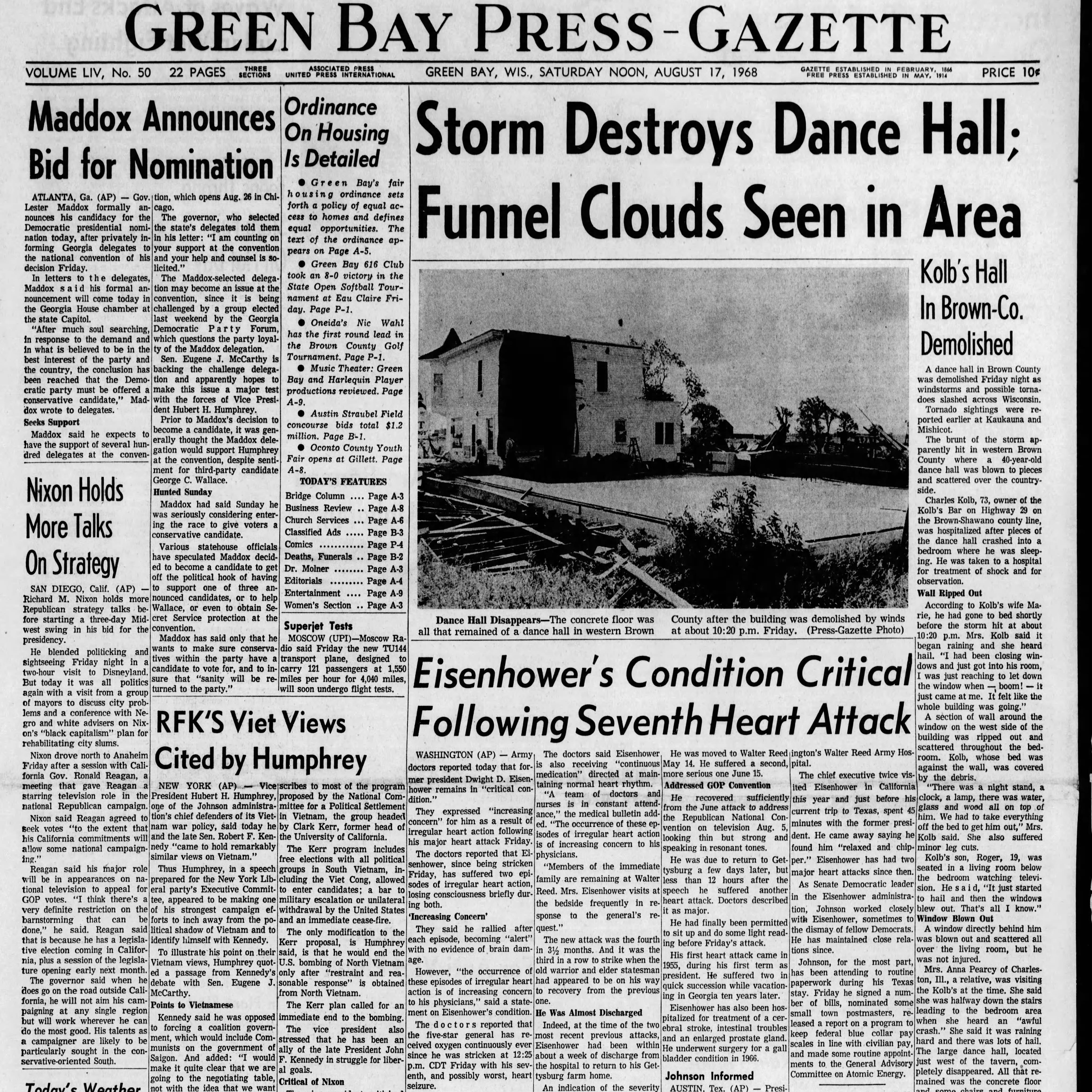 Green Bay Press-Gazette today in history: August 17