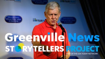 Tom Ervin speaks about his greatest moment in sports during the Greenville News Storytellers project on Tuesday, Aug. 14, 2018.