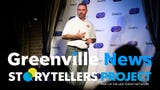 Tony Koutsos speaks about his greatest moment in sports during the Greenville News Storytellers project on Tuesday, Aug. 14, 2018.