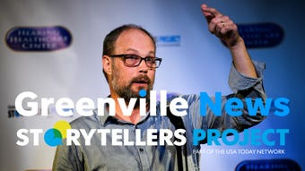 Greenville News regional news director Steve Bruss speaks about his greatest moment in sports during the Greenville News Storytellers project on Tuesday, Aug. 14, 2018.