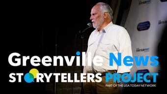 George Bell speaks about his greatest moment in sports during the Greenville News Storytellers project on Tuesday, Aug. 14, 2018.