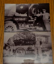 Reprints of old photographs of Nick Poncelet from the 1920's when the family business was Home Sweet Home Truck Garden. The business later became Poncelet Landscape and Excavating.