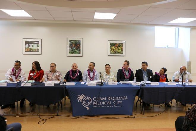 Gubernatorial candidates and their running mates attend the Guam Regional Medical City Gubernatorial Healthcare Forum.