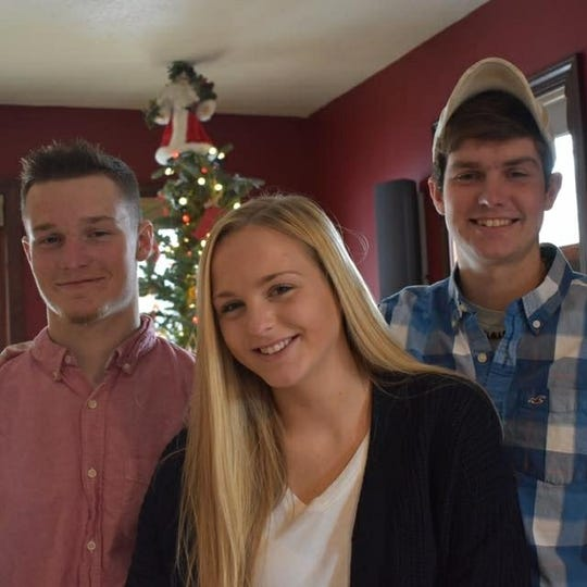 The Meister siblings, from left: Collin, Ellie and Brock.