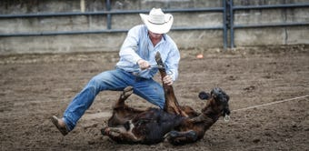 3 Bar J Championship Rodeo action at the Indiana State Fair