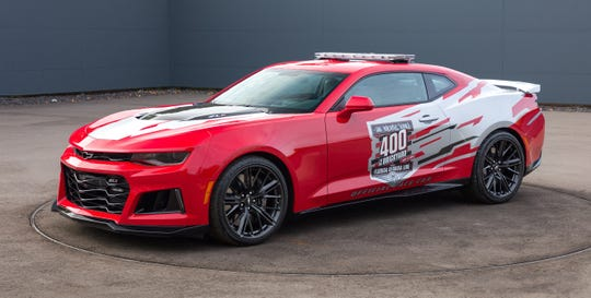 Dale Earnhardt Jr. will drive this Camaro ZL1 pace car at this September's Big Machine Vodka 400 at the Brickyard.