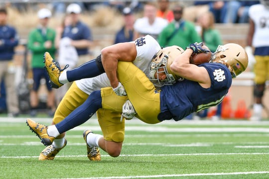 Navy transfer Alohi Gilman hopes to be a much-needed playmaker in the Irish secondary this fall.