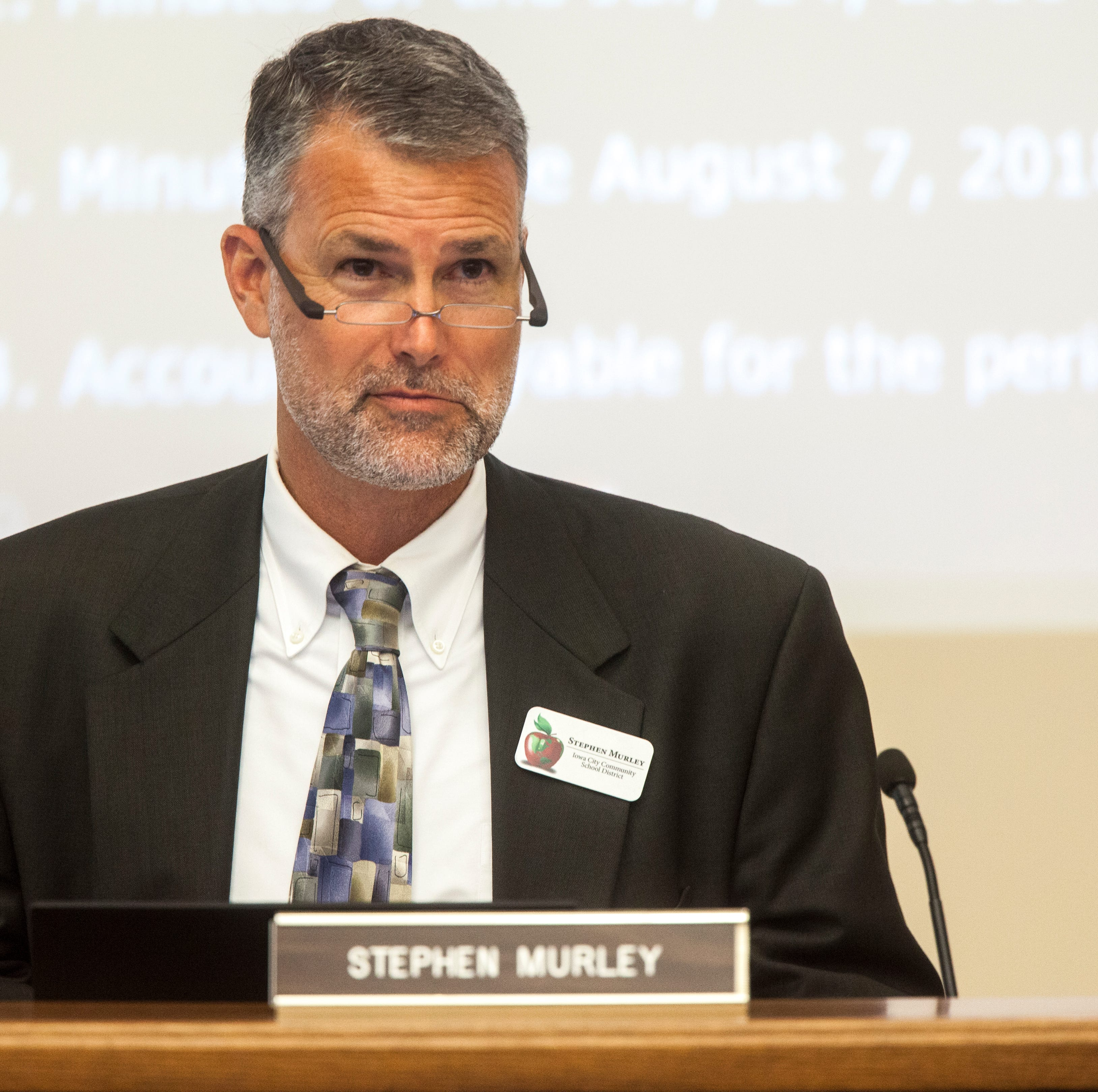 Iowa City school board approves three more years with superintendent Murley's but no raise