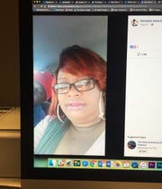 This photo of a social media post shows Latasha Patrick Johnson.