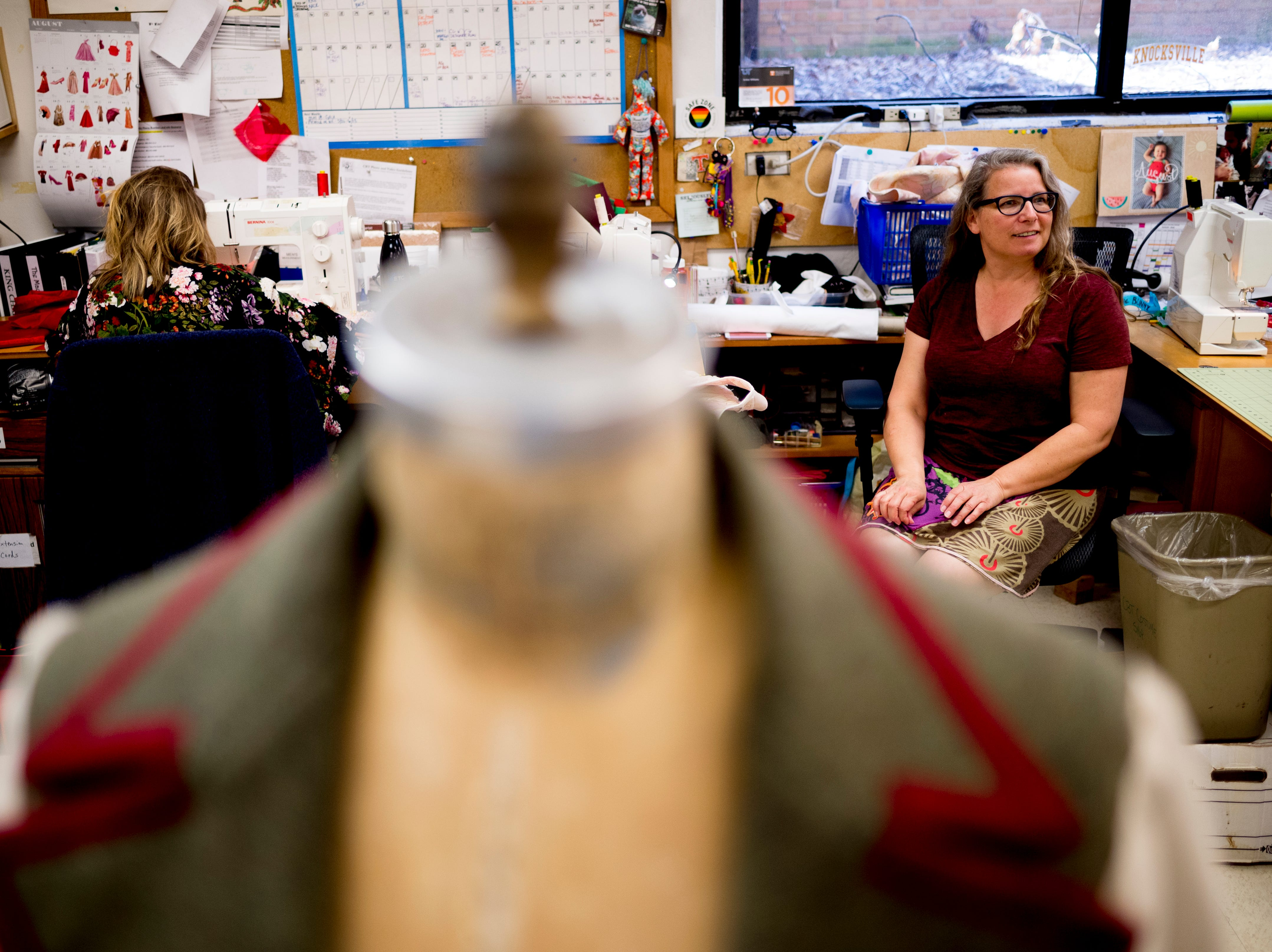 Costume designers work in the costume shop ahead of opening day for Candide at the Clarence Brown Theatre  in Knoxville, Tennessee on Tuesday, August 14, 2018. Leonard BernsteinÕs acclaimed operetta, Candide, is to open Friday, August 31, with previews beginning August 29.