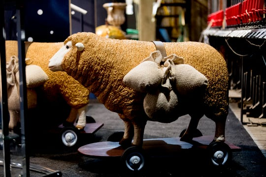"""Sheep on wheels are part of the show for """"Candide"""" at the Clarence Brown Theatre in Knoxville. Leonard Bernstein's acclaimed operetta will open Friday, Aug. 31, with previews beginning Aug. 29."""