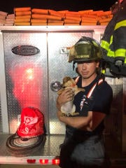 Firefighters in Centerville, Tenn., used pet oxygen masks to resuscitate a family's puppy that was found unconscious in a burning home.