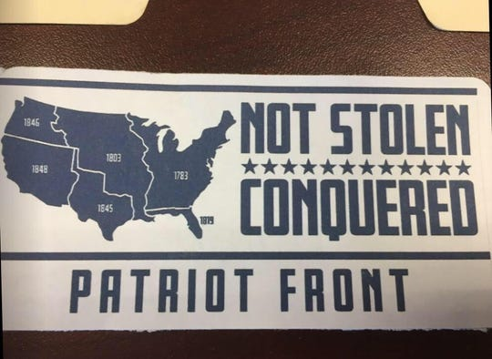 Stickers from a white nationalist group were placed on the campus of the University of Louisiana at Lafayette in spring and summer 2018.