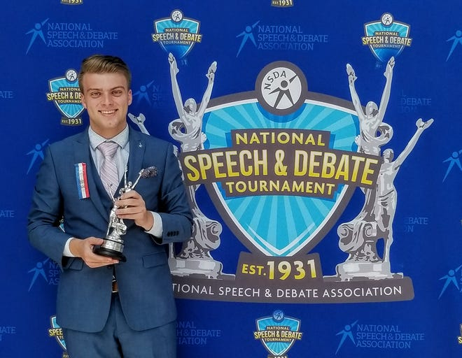 Spencer Schumacher placed 9th in Extemporaneous Speaking at the National Speech and Debate Association Grand Tournament in Ft. Lauderdale in June.