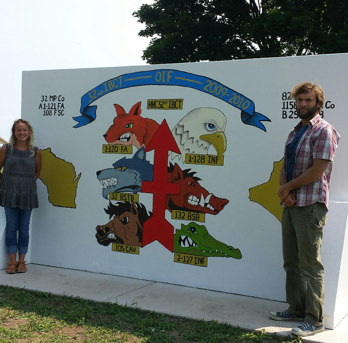 Manitowoc Red Arrow Park has new mural; Spirit of the Rivers sculpture installed | Briefs