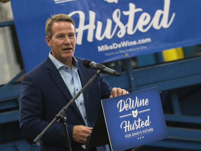 Candidate for Ohio lieutenant governor and current Secretary of State Jon Husted talks during a campaign event.