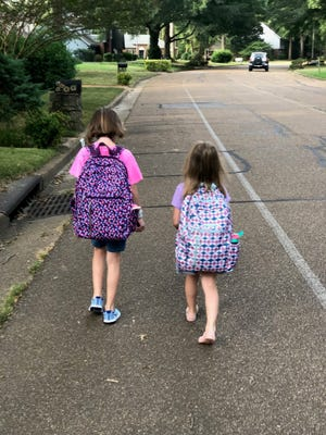 Riverdale Elementary and Middle School students walk to school without sidewalks. The school has nearly $216,000 to improve sidewalks in the area.