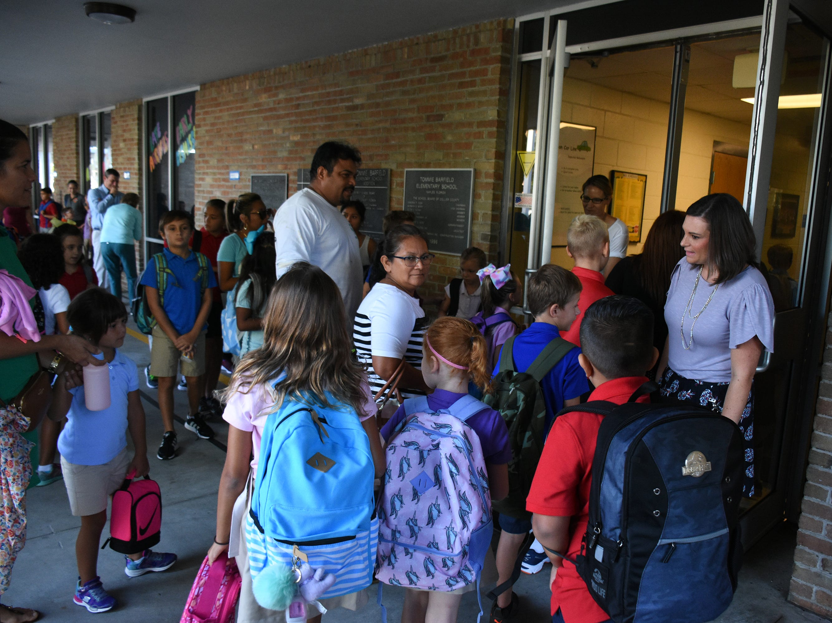 Marco Island students, along with all of Collier County, returned to school for the first day of classes in the new school year on Wednesday.