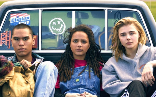 "Chloe Grace Moretz (right, with Forrest Goodluck and Sasha Lane) star in ""The Miseducation of Cameron Post."""