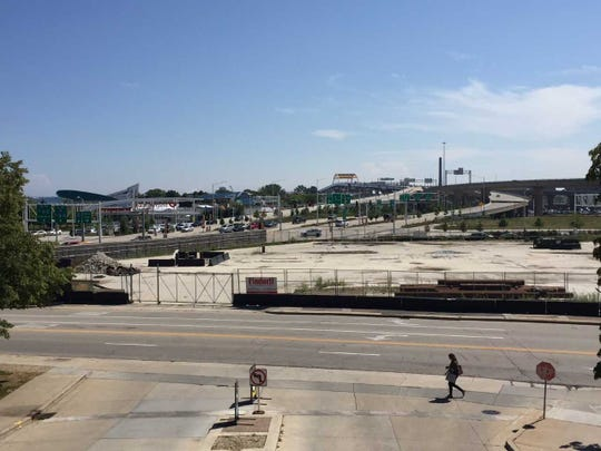 The Couture project site, south of East Michigan Street and west of North Lincoln Memorial Drive, has been vacant since a former Milwaukee County Transit System facility was demolished in 2017.