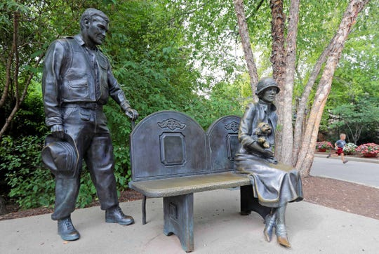 Bill Borchert Larson and his mother, Florence Mila Borchert, are memorialized in a statue at the Milwaukee County Zoo. Larson was a major donor to the zoo and also left $1 million with a foundation to support Trinity Irish Dance Company. The dance group's nonprofit board and the troupe's founder are now in court over who should get the money.