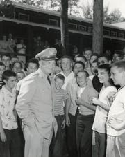 Gen. Dwight Eisenhower visited Camp Manito-wish YMCA in 1946.