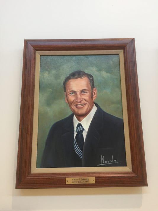 Wayne Salentine Portrait In Muskego City Hall