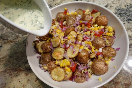 Wisconsin-Grown Roasted Corn and Potato Salad, with a creamy herb dressing, was a winner at the state fair.