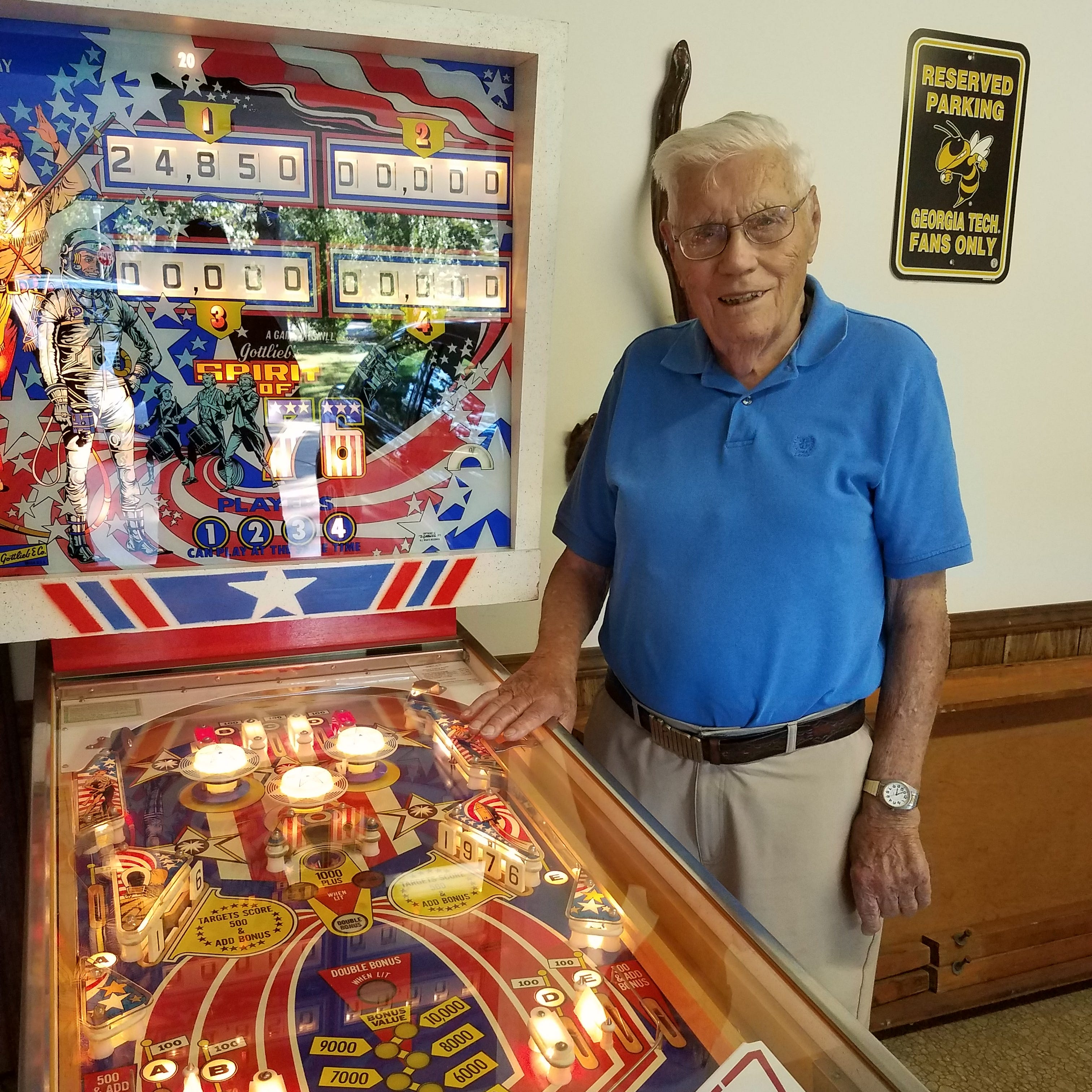 Meet Mountain Home's 100-year-old pinball wizard