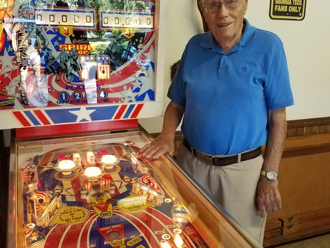 Mountain Home resident Wayne Neyens recently donated his Spirit of '76 pinball machine to the  Pacific Pinball Museum in Almeda, Calif. Neyens, who turned 100 on July 29, designed about 150 machines, including the Spirit of '76, for pinball manufacturer Gottlieb.