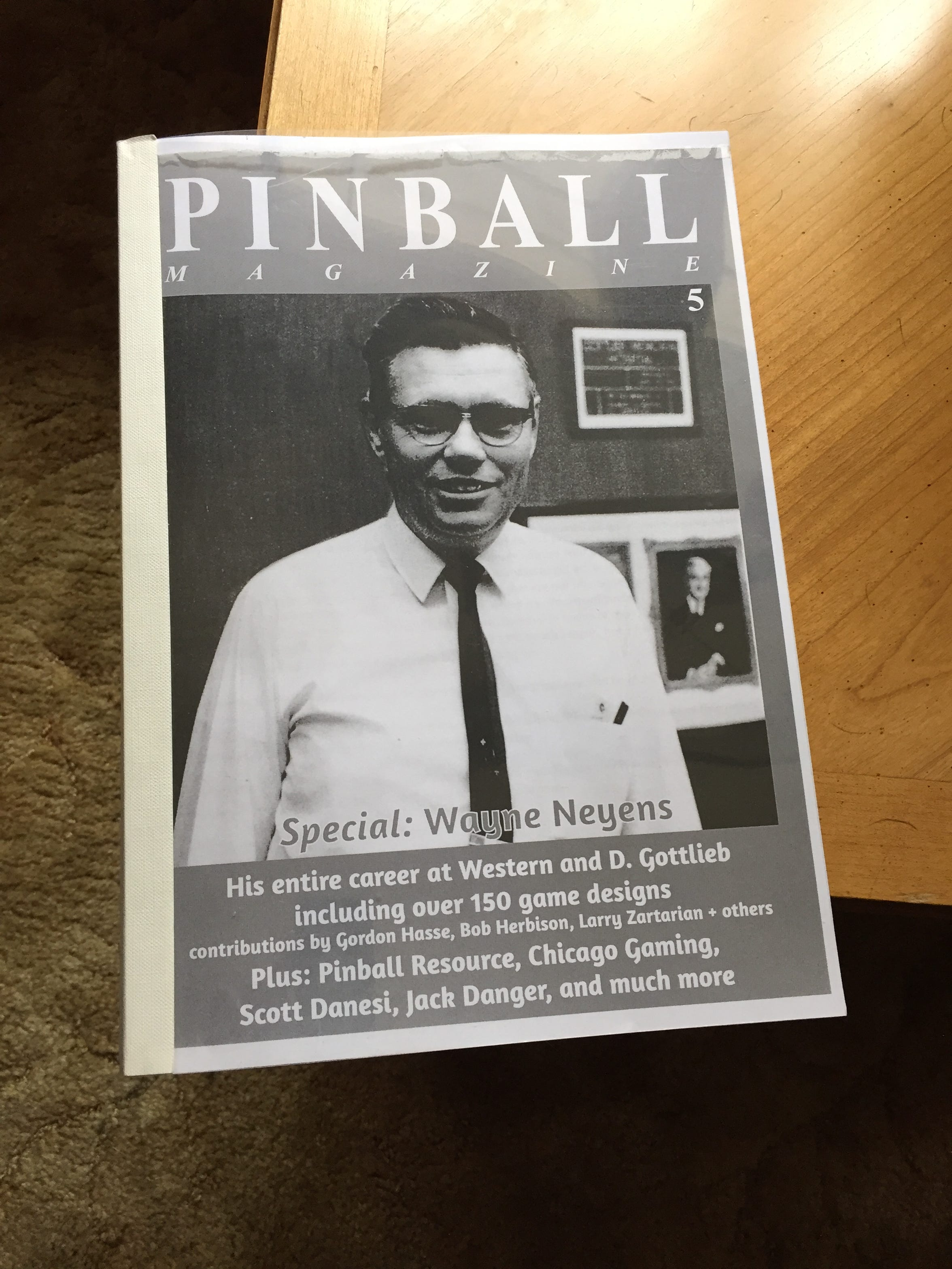 Wayne Neyens is editing a yet-to-be published book detailing his career in the pinball machine industry. Neyens designed about 150 pinball games between 1949 and 1968.