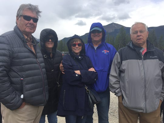 Joe Raymond Peace, Pat Gillum, Marsha and Richard Nealy, and George Gillum just returned from a trip to Canada in July.