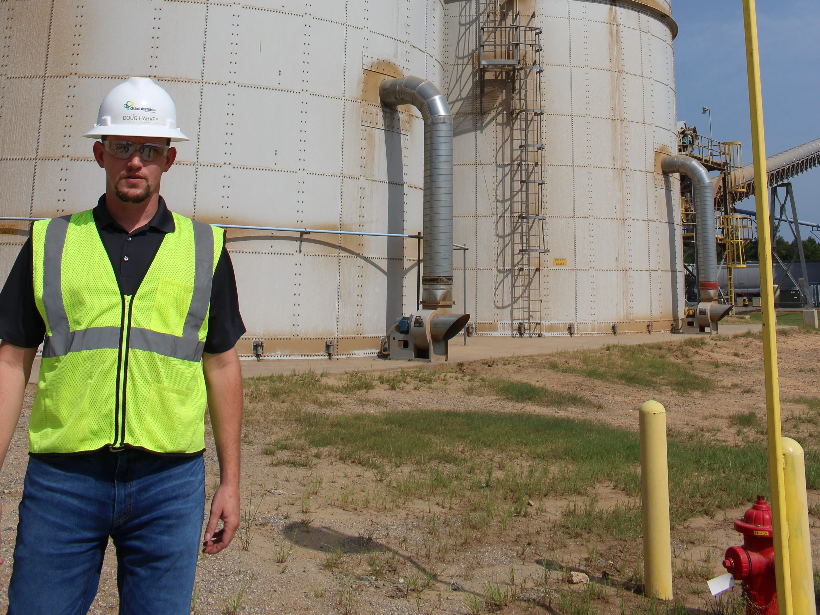 Morehouse Bioenergy Plant Manager Doug Harvey said each of two silos at the facility hold slightly less than a day's production.
