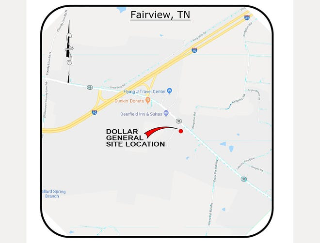 Site location for Fairview's second Dollar General store on Highway 96 North.