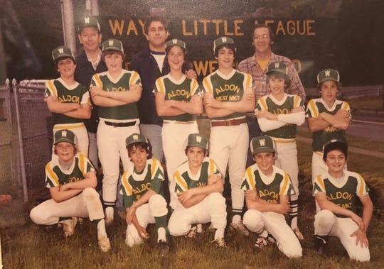 Aldon's Meat Market Little League team with John Klosek (second row, far right).