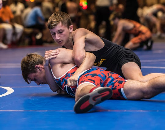 Butler rising senior Ben Bariso, top, competed for Team Celtic in the 117 pound weight class at the competitive  NUWAY Summer Nationals  Tournament in Atlantic City, NJ.  Team and individuals from all over the country competed in the annual tournament.