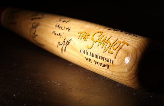 William Horneff owns this autographed bat from the 25th anniversary of , 'Sandlot'. Tuesday, August 14, 2018