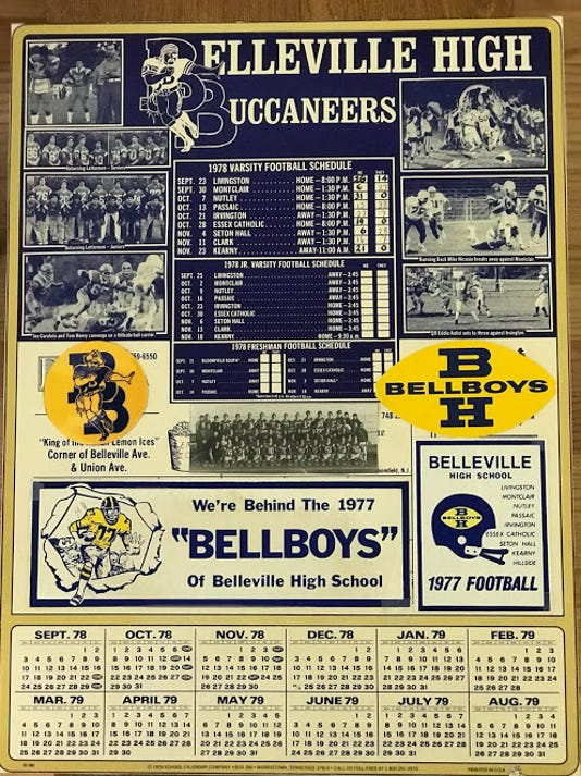 Belleville 1978 football schedule