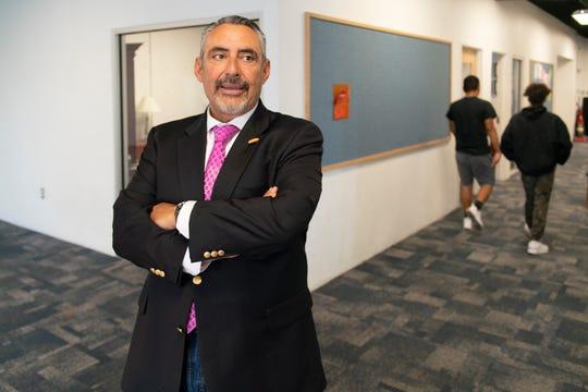 Tony Monfiletto, executive director of Future Focused Education, at Siembra Leadership School in Albuquerque.
