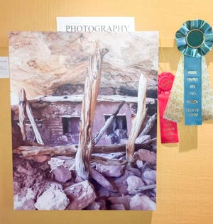 """""""Cedar Mesa Kiva"""" by Jackie Blurton won Best of Show in Photography in the GCAG Members' Opening Show earlier this year."""