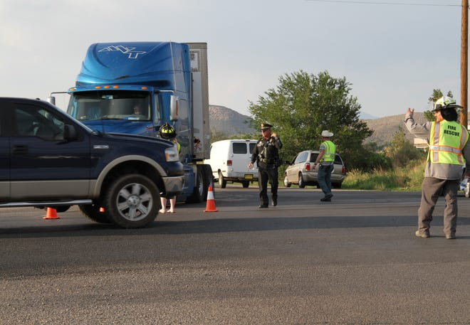 New Mexico State Police, Otero County Sheriff's Office and county fire diverted traffic from U.S. 54/70 after an officer involved shooting Tuesday afternoon.