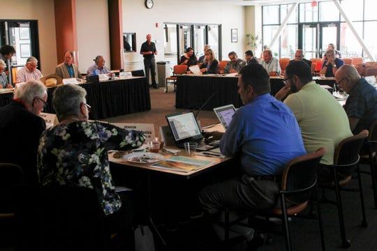 Economic and Rural Development Committee members meet Aug. 13, 2018 at San Juan College School of Energy in Farmington.