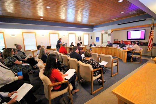 Ruidoso School Board meeting August 14 was host to many topics. The board was pleased to see that the new White Mountain Complex had opened on time with just a few minor glitches.