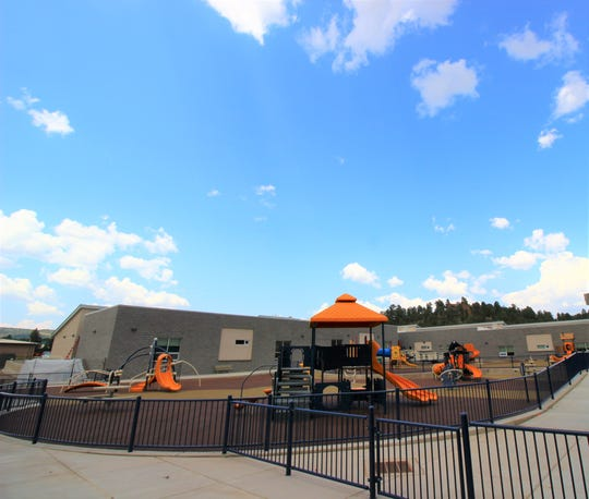 One of the two new play areas at Sierra Vista Primary that is ready for fun.