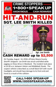 Crimestoppers is offering a reward for information in the hit-and-run death of a Wayne County Sheriff's deputy in Hines Park.